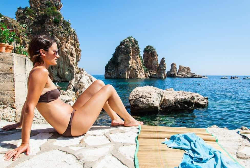 Scopello cefalu mondello nordwest nord sizilien ferien ferienhaus villen meer