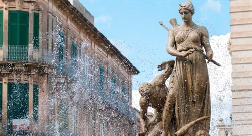 dianabrunnen syrakus sehenswürdigkeiten sizilien ferien guide sizilianische städte
