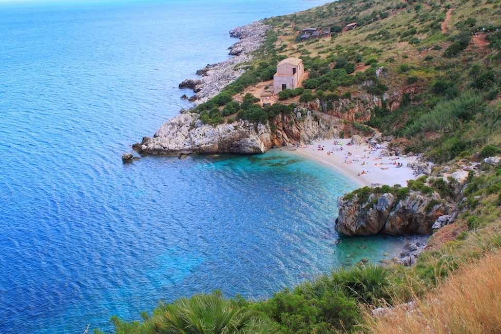 sizilien ferien information scopello ferienhaus villa meer strand einsame bucht zingaro naturreservat