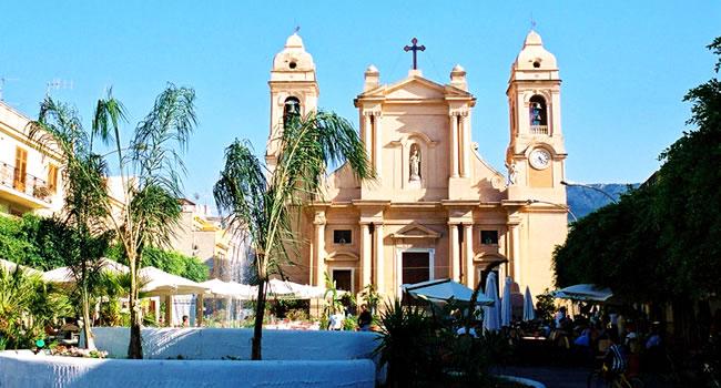 terrasini sizilien ferien villa ferienhaus kirche sehenswürdigkeiten stadtzentrum
