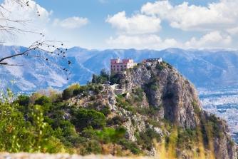 mondello palermo sizilien ferien information villa burg berg pellegrino panorama